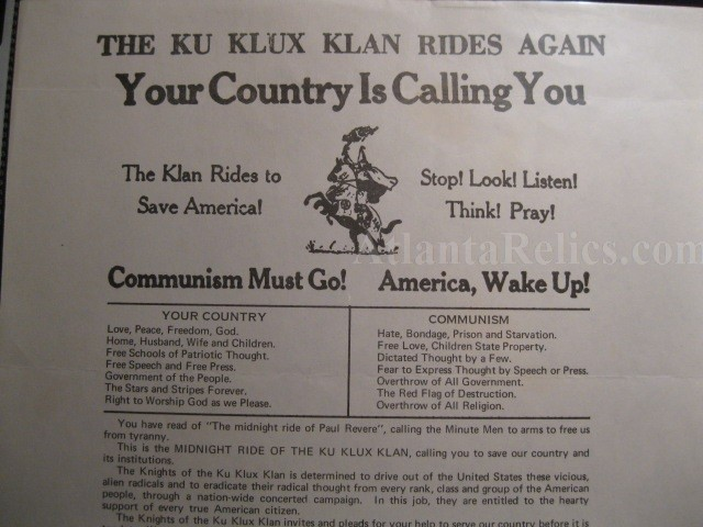 the influence of the ku klux klan on personal development and social behavior Stereotypes and prejudices and discrimination are explored in a manner which will enable students to understand behavior and to condemn ku klux klan – an.